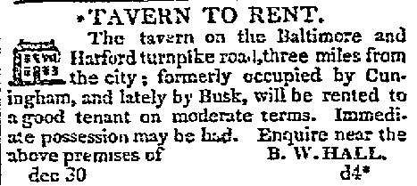 Tavern to Rent